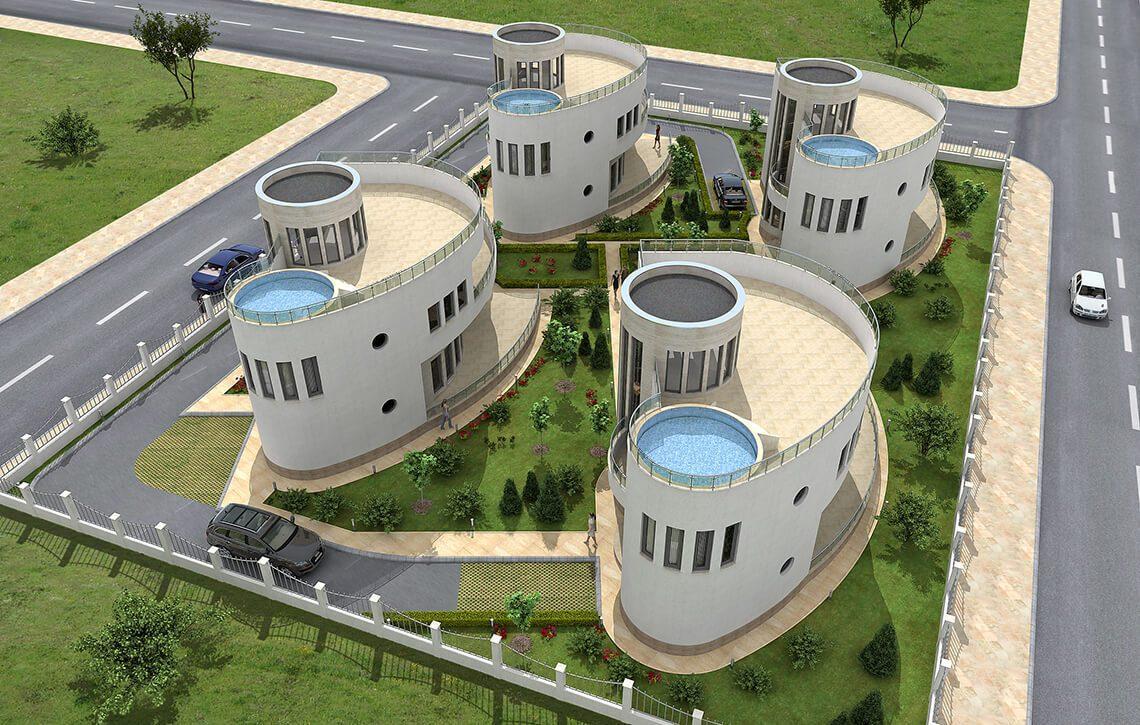 Еднофамилни къщи в с.Божурец, общ.Каварна - Архитект Варна Jas Studio