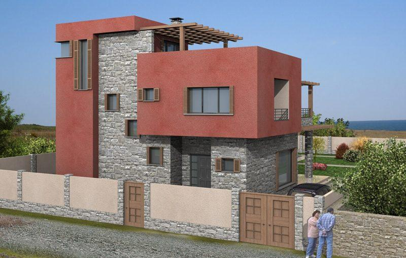 Жилищна сграда с.Тюленово, обл.Добрич - Проект на къща Jas Studio