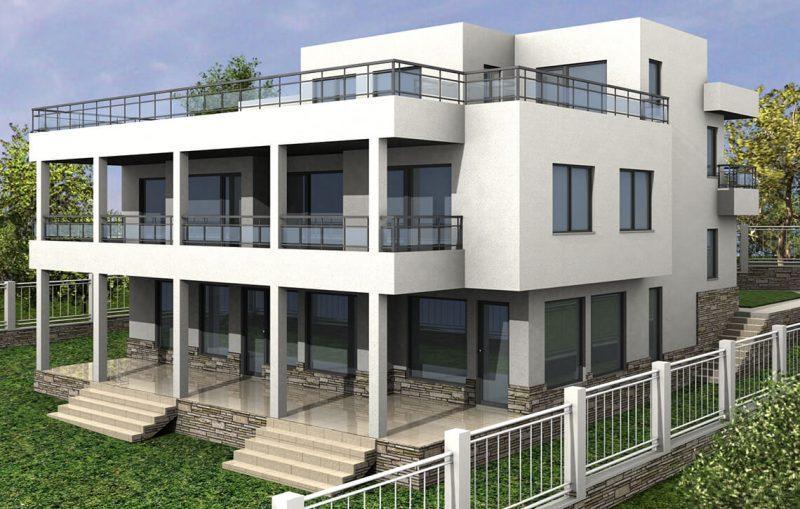"Двуфамилна жилищна сграда, гр.Варна, ""Траката"" - Проект на къща Jas Studio"