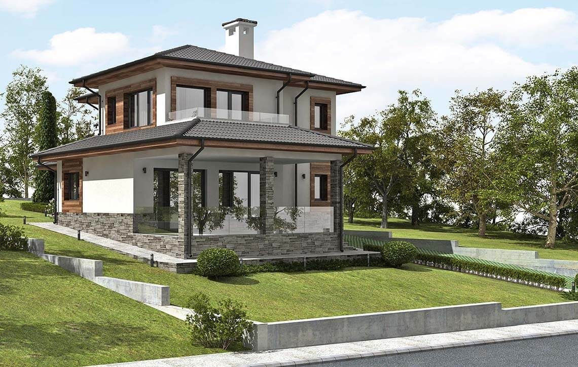 Къща в СО Ален Мак, гр. Варна - Проект на сграда Jas Studio