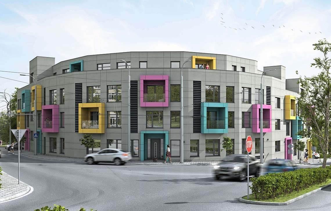 Жилищна сграда - Colour Code - Архитект Варна Jas Studio