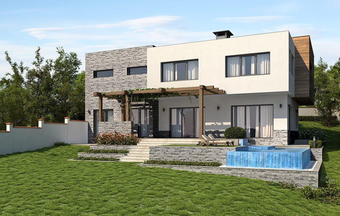 Къща в СО Манастирски Рид, гр. Варна - Интериорен дизайн Jas Studio