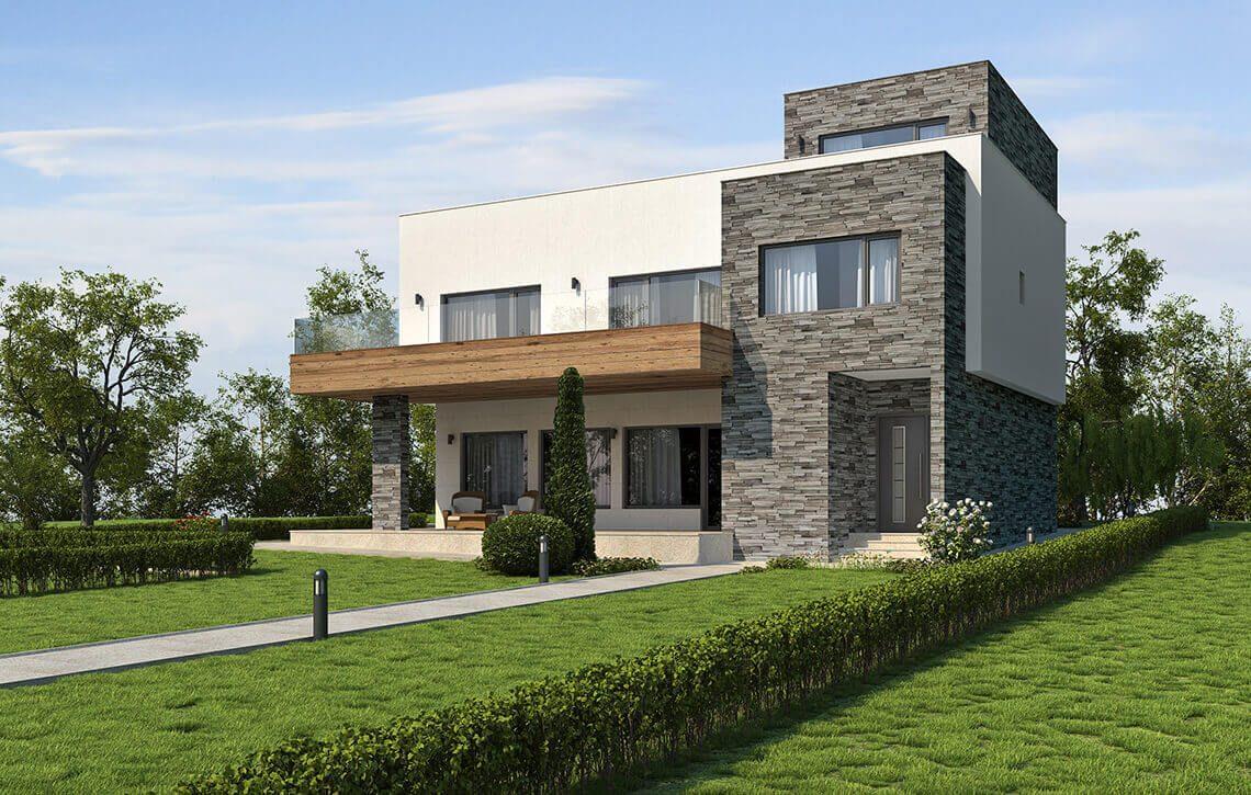 Къща в СО Пчелина, гр. Варна - Проект на сграда Jas Studio