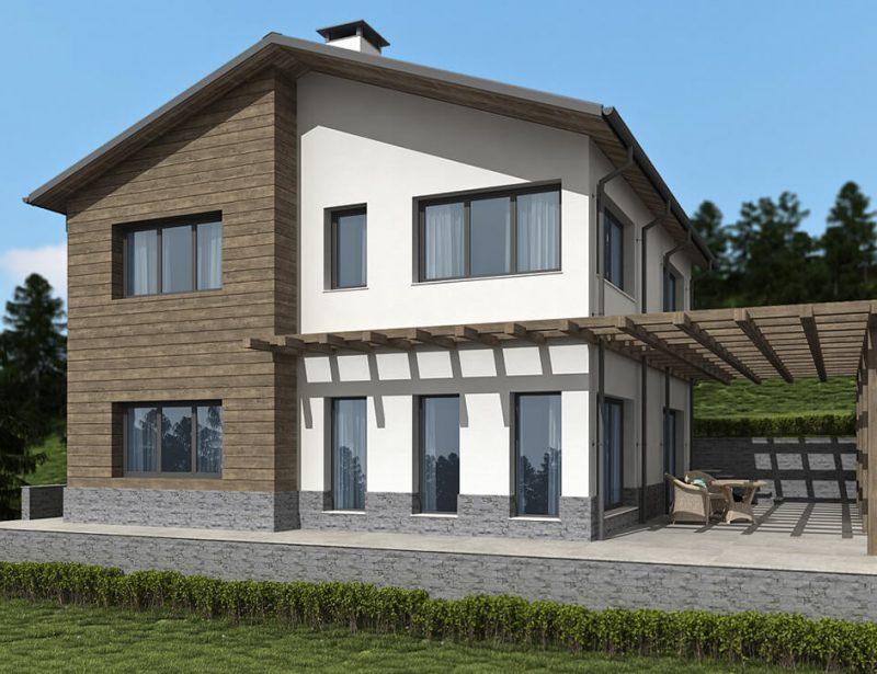Къща в с.Здравец, общ.Аврен - Проект на къща Jas Studio