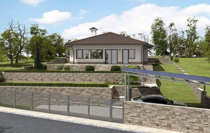 Къща в СО Траката, гр. Варна - Проект на къща Jas Studio