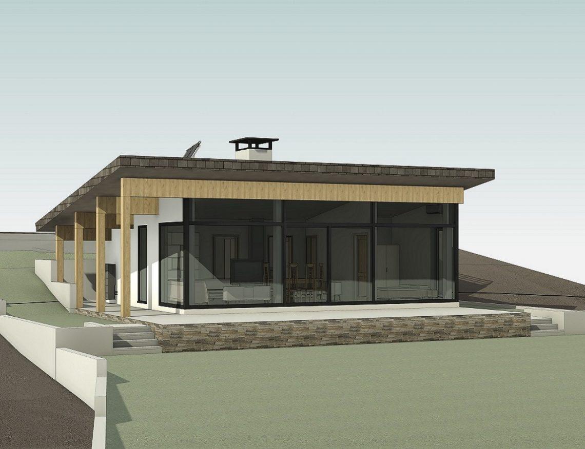 Едноетажна Къща на стръмен терен – Прибой