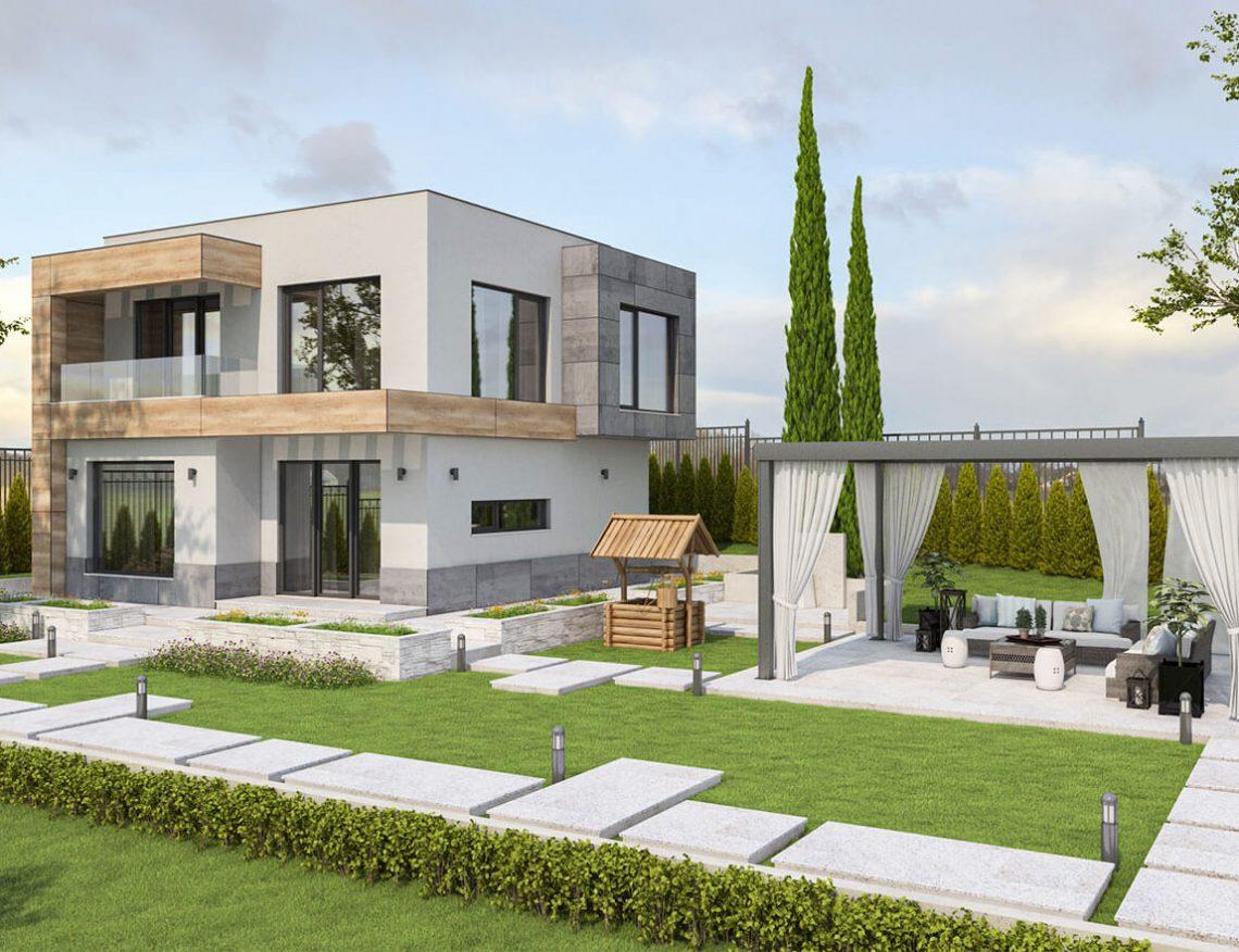 Компактна модерна къща в СО Ментешето - Варна